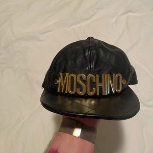 Moschino Leather Hat